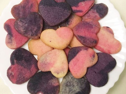 Colored hearts cookies